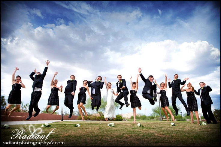 They really really wanted a jumping shot... little did they know that meant they were going to have to do like 10 jumping shots for us to get just the right one.  We got it.: Photo Ideas, Photo Inspo, Wedding Photos, Jumping Shots