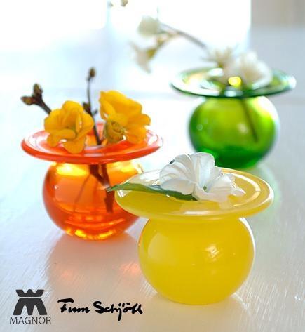Magnor handmade glass vases
