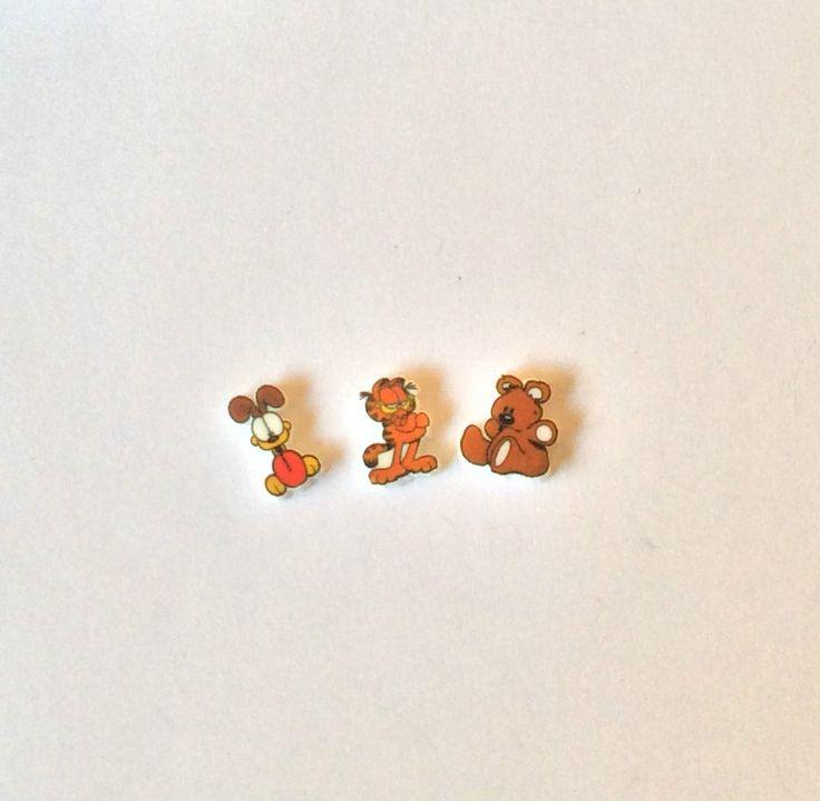 3 GARFIELD FLOATING LOCKET CHARMS POOKY ODIE      eBay