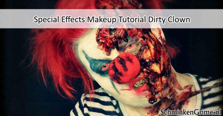Special Effects Makeup Tutorial Dirty Clown een geweldige tutorial om een enge clown neer te kunnen zetten op spooktochten, griezelfeesten en spookhuizen.