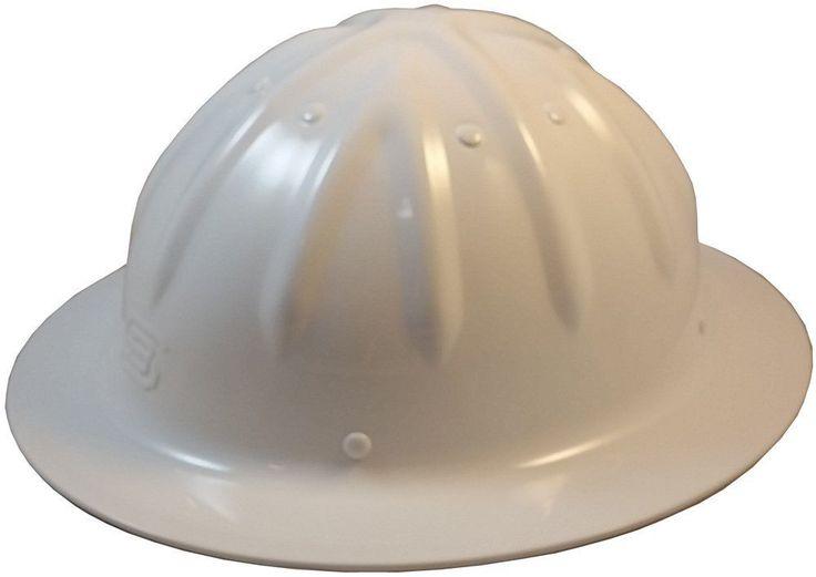 Original Skull Bucket Aluminum Hard Hats, Full Brim, Ratchet Suspension, White #SkullBucket