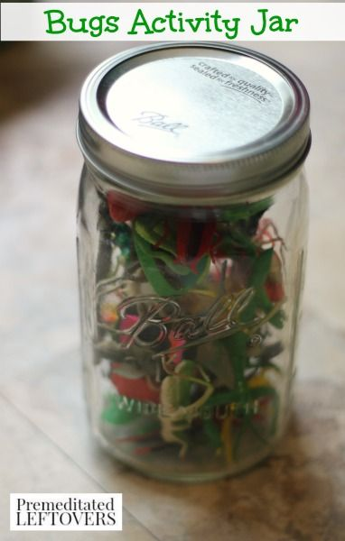 Bug Activity Jar with 7 Bug Activities - Check out these fun and educational bug activities in a cute mason jar for you and your toddler or preschooler.