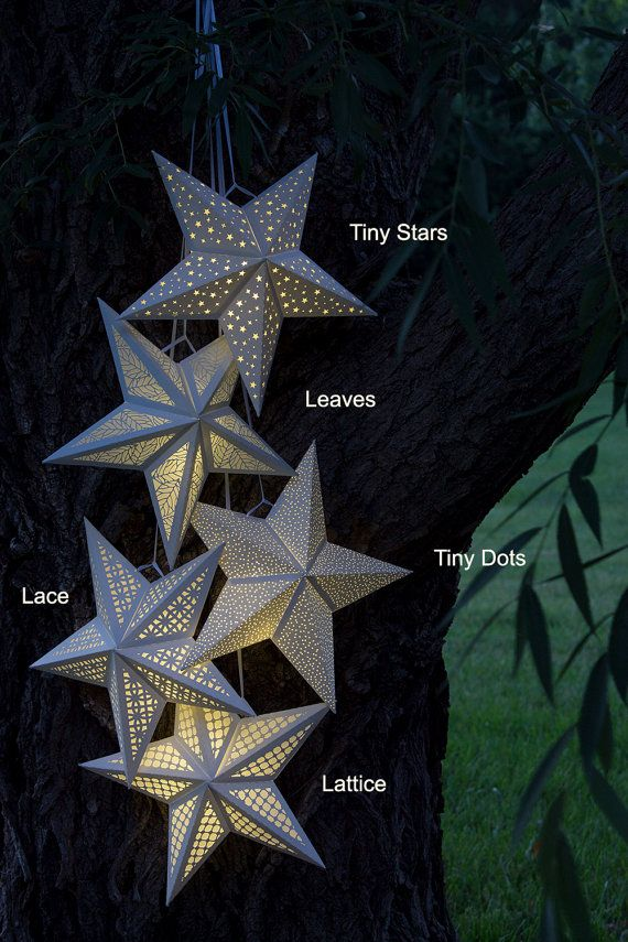 Paper Star Lantern w Tiny Dots SVG by ExquisitePaperDesign