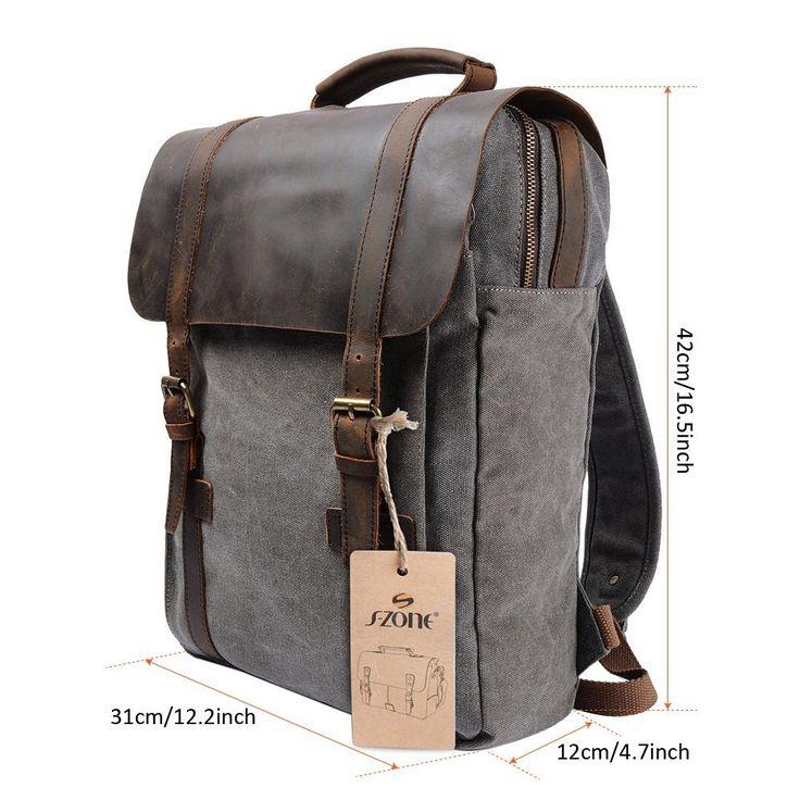 """S-ZONE Sac à dos fashion en cuir pour Ordinateur Portable 13""""-15"""": Amazon.fr: Bagages"""