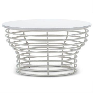 Luciano Wooden Top Metal Wireframe 80x45cm Coffee Table  $270