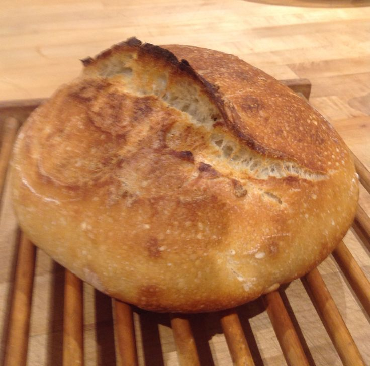 An Artisan Bread School student sent us this photo of their delicious loaf, which they baked at home after class.