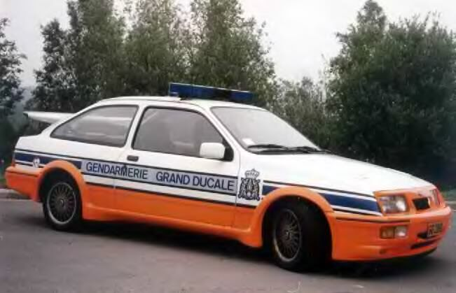 Luxembourg Police Ford Sierra RS Cosworth...