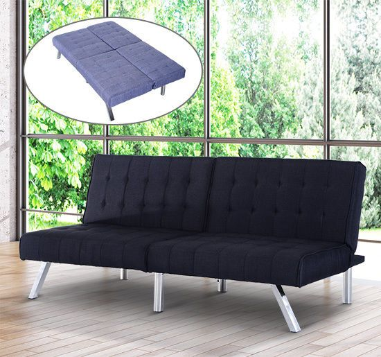 Details About Futon Couch Convertible Sofa Bed Adjustable Sleeper Living  Room Furniture Linen