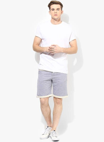 Buy Incult Striped Contrast Panel Slim Shorts for Men Online India, Best Prices, Reviews | IN364MA18AOJINDFAS