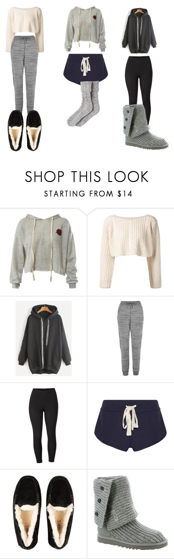 """""""Lazy Day Outfits"""" by hpcrazy ❤ liked on Polyvore featuring Sans Souci, UNIF, Ivy Park, Venus, Eberjey, UGG, UGG Australia and plus size clothing"""