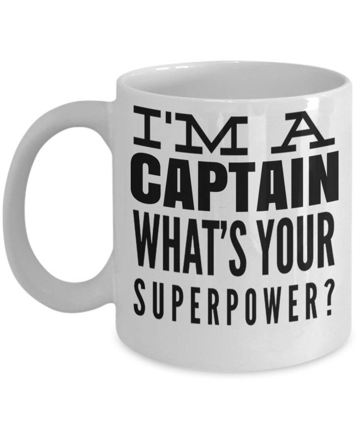 Captain Mug- Sailing Mug - Boating Mug- Sailing Gifts For Men- Captain Gifts For Men - I Am A Captain Whats Your Superpower