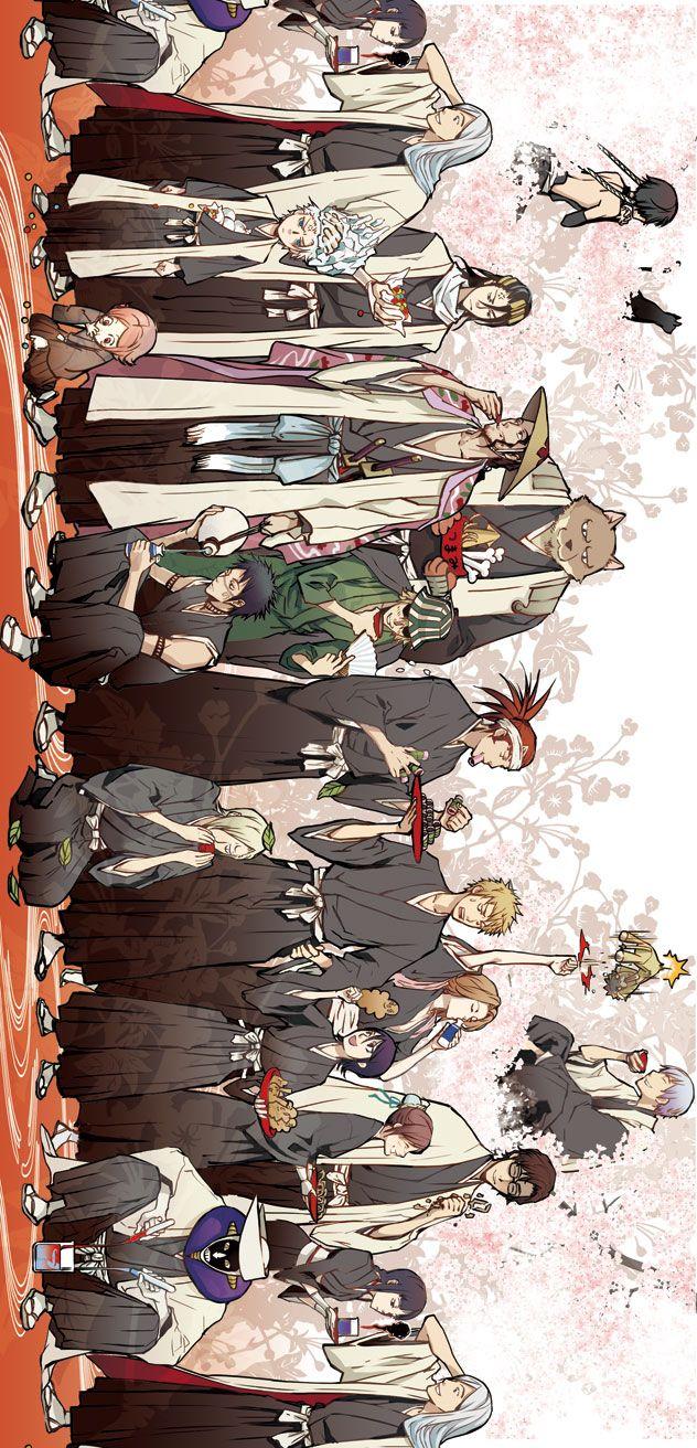 Bleach Captain's and Lieutenant's  (Technically urahara was a captain)