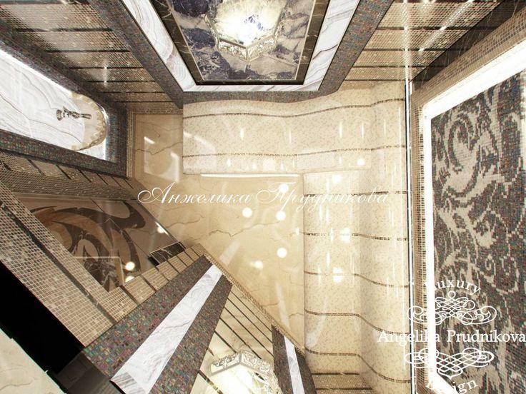 Дизайн загородного дома с бассейном на Пестовском водохранилище - фото
