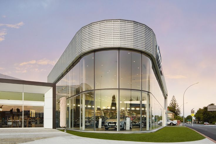 Chow:Hill Architects was tasked with creating a dramatic retail precinct on an important corner site that is a gateway to Hamilton. The completed project won the Commercial Architecture Award in the 2016 Waikato-Bay of Plenty Architecture Awards. The Ebbett Audi and Volkswagen dealership displays vehicles in two dedicated showrooms separated by a plaza area with a café.