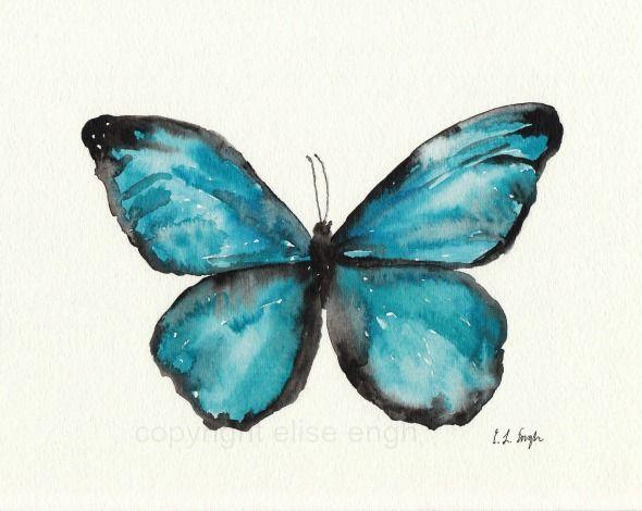 Grow Creative: Watercolor Butterflies tattoo @Dusty Smith