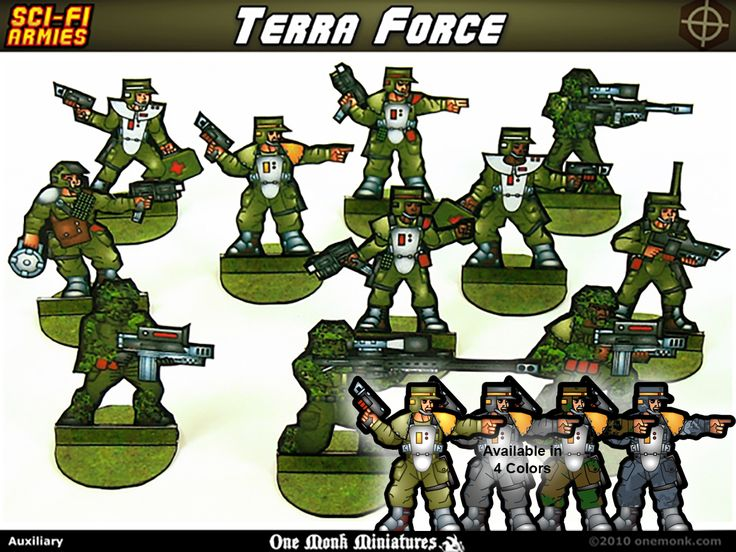 New Terra Force: Auxiliary Troops! - http://www.braveadventures.com/news/2016/07/01/terra-force-auxiliary-troops/