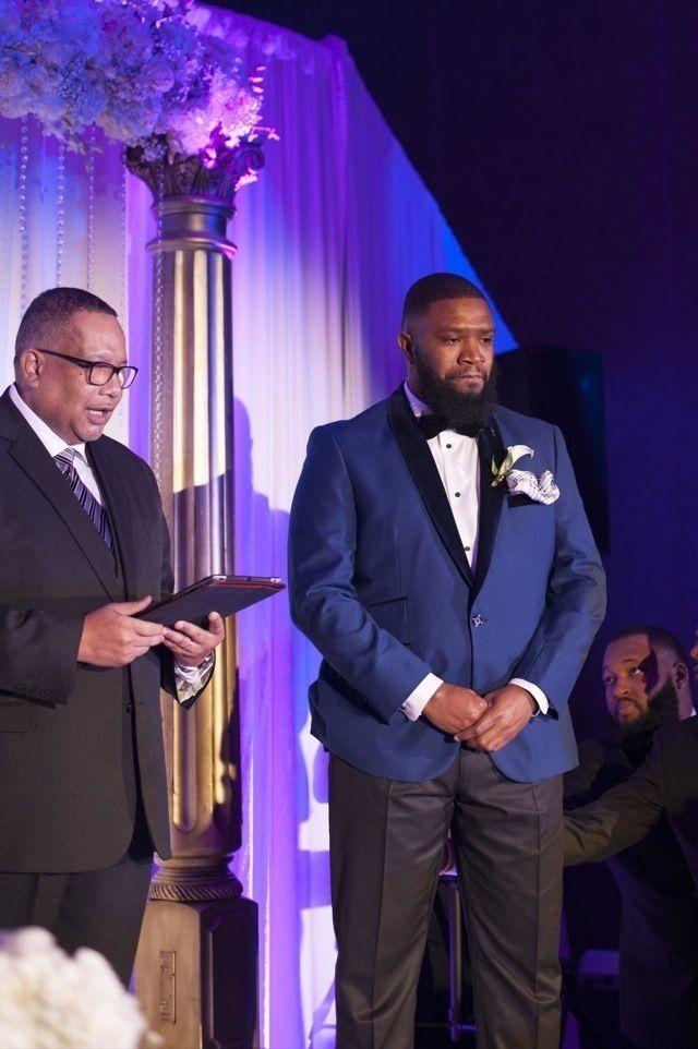 Glamorous Purple and Black Wedding in Virginia: Dana + Patrick