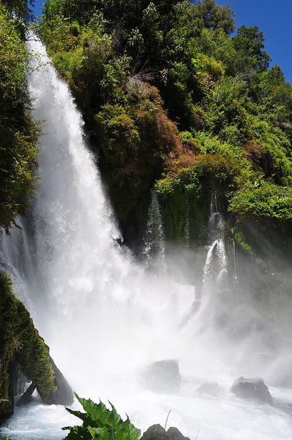 Ojos del Huishue waterfall in Patgonia, Chile (by Noelegroj