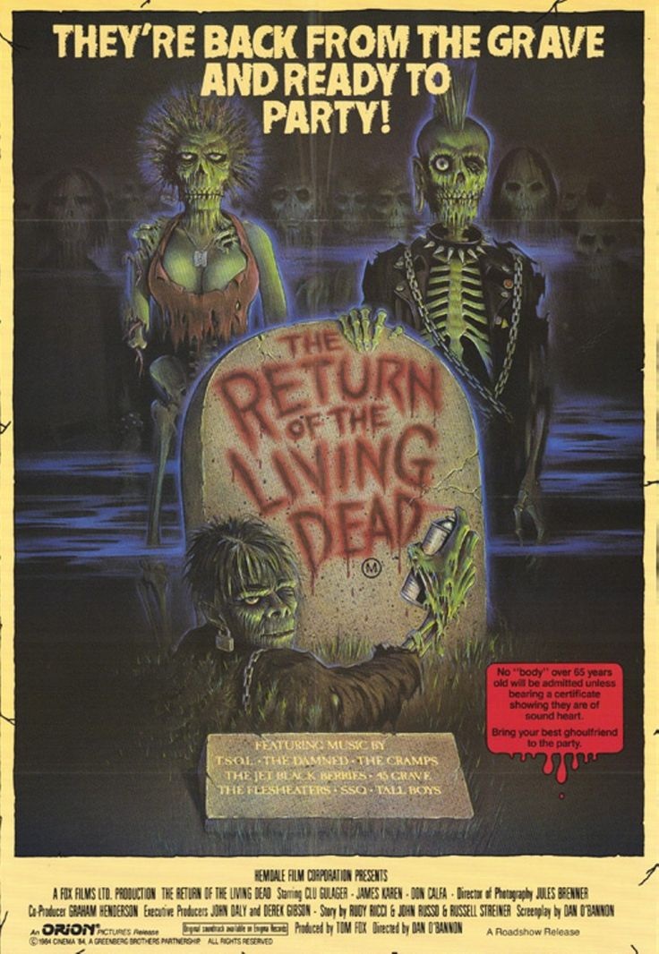 """The Return Of The Living Dead"" (Dan O'Bannon, 1985)."