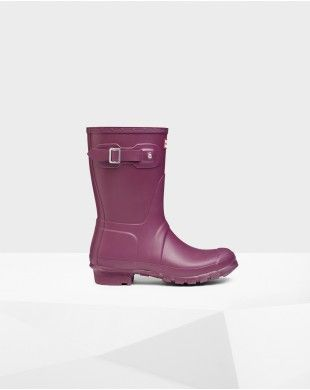 Hunter Women's Original Short Wellington Boots Purple #hunter #boots #rainboot #purple #women