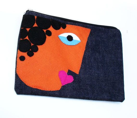 Embroidered Zipper pouch clutchdaily makeup must-have by Apopsis