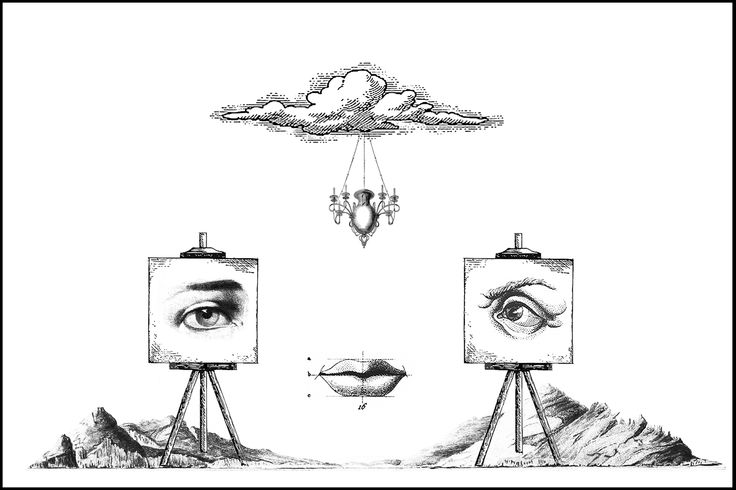 """portrait"" - digital collage"