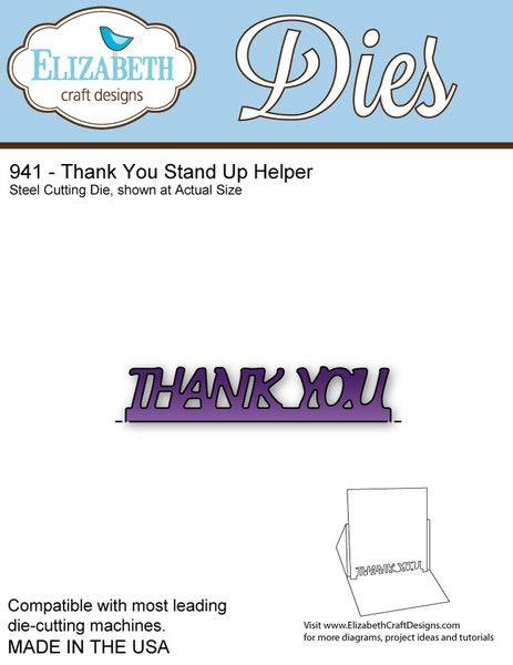 Elizabeth Craft Designs Stand Up Helpers : Thank you stand up helper products elizabeth craft
