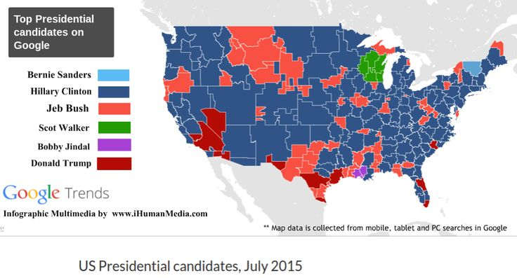 Google search map shows Hillary Clinton first woman President 2016