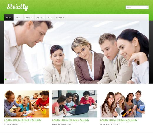 16 best education school responsive mobile web templates images on strictly free responsive html5 css3 mobileweb template pronofoot35fo Choice Image