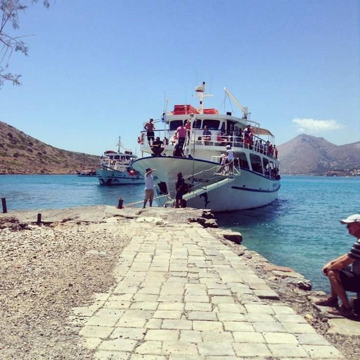 Boat trips to Spinalonga depart every half and hour on summer season