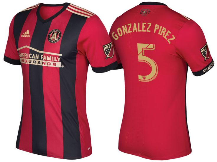 Atlanta United #5 Leandro Gonzalez Pirez 17-18 5-Stripe Primary Short Shirt