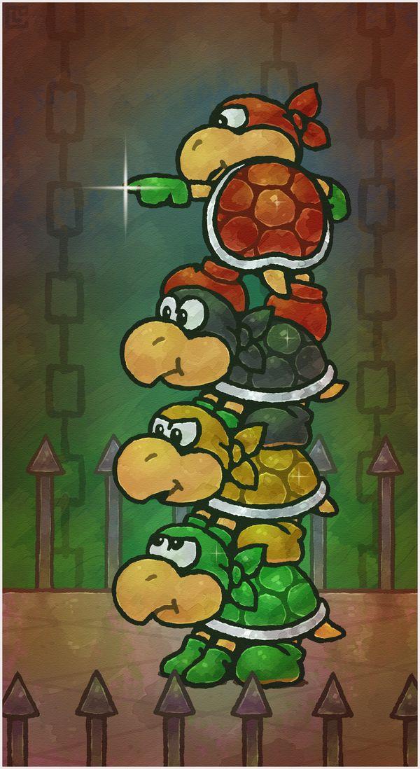 Paper Mario 64: The Koopa Bros. by Cavea on DeviantArt #mario #nintendo #fanart