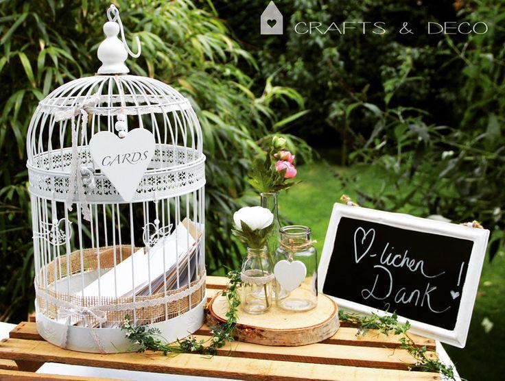 Hochzeitsdeko – Käfig Kartenaufbewahrung Hochzeit Briefbox – ein Designerstück…