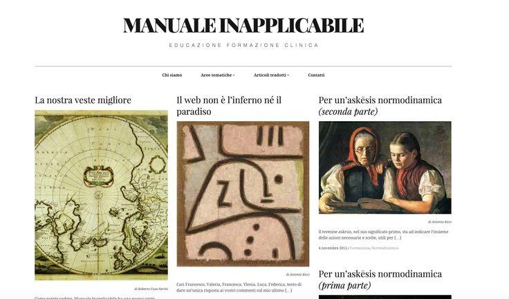 Anteprima dell'home page del nostro blog nella nuova versione sul nuovo indirizzo manualeinapplicabile.it
