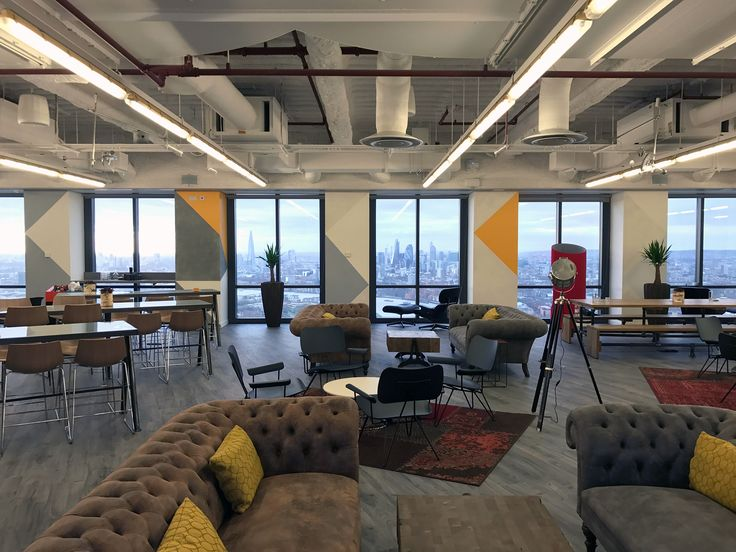 Level 39 - views across London from the office space.