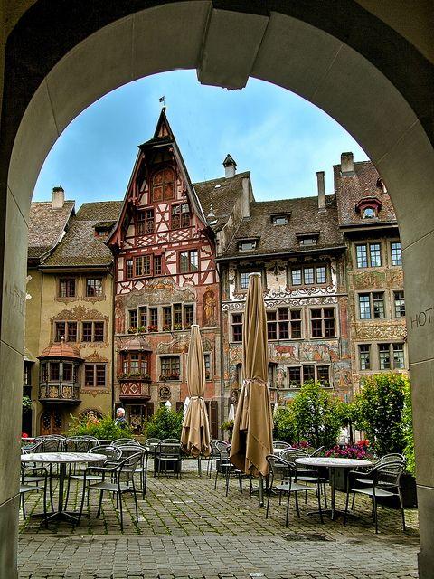 Medieval centre of Stein am Rhein / Switzerland  (by HPollmeier).