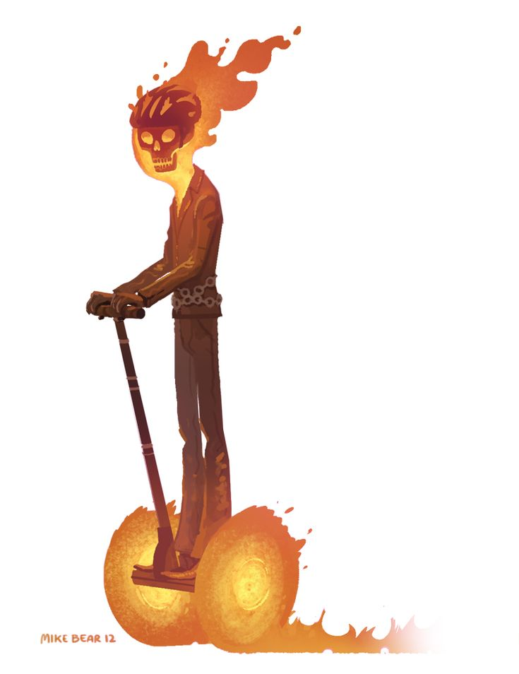 Ghost Rider by Mike Bear - - because Ghost Segway isn't as intimidating