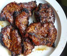 Vietnamese Restaurant-Style Grilled Lemongrass Pork Thit Heo Nuong Xa  http://www.vietworldkitchen.com/blog/2009/04/vietnamese-restaurantstyle-grilled-lemongrass-pork-thit-heo-nuong-xa.html#