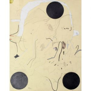 artist: joseph hart / title: untitled three points / year: 2010 / medium: works on paper / medium detail: collaged paper, acrylic paint, ink, colored pencil and graphite on paper / dimensions: 19.00 h x 15.00 w in.