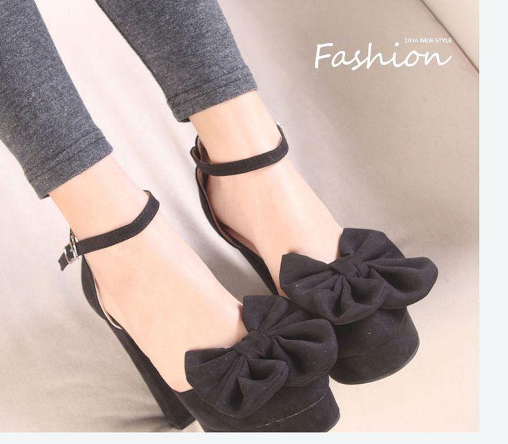 Бесплатная доставка! Новый 2014 весна одного туфли сладкий с бантом толстый каблук платформа женщин туфли на высоком каблуке туфли на высоком каблуке невесты туфли, принадлежащий категории Обувь на платформе и относящийся к Обувь на сайте AliExpress.com | Alibaba Group