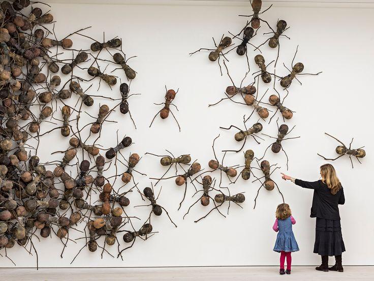 Artist Rafael Gomezbarros's 440 fibreglass ants, each 90cm long, take over part of the Saatchi Galle