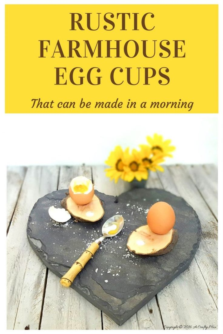 Treat yourself and your guests with these rustic egg cups that can be made in a few minutes