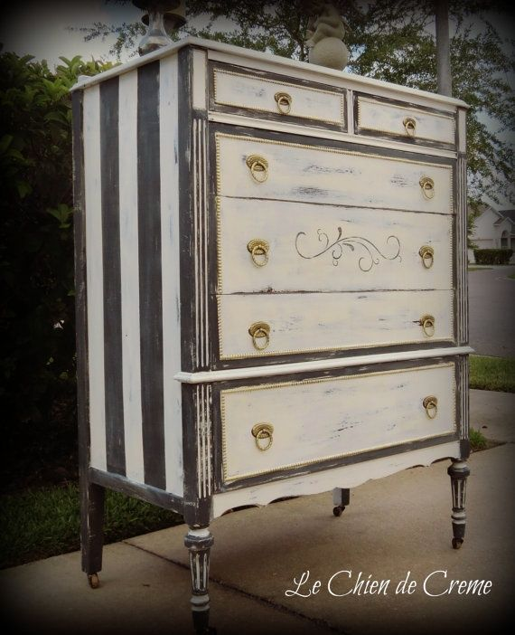 Chalk painted chest