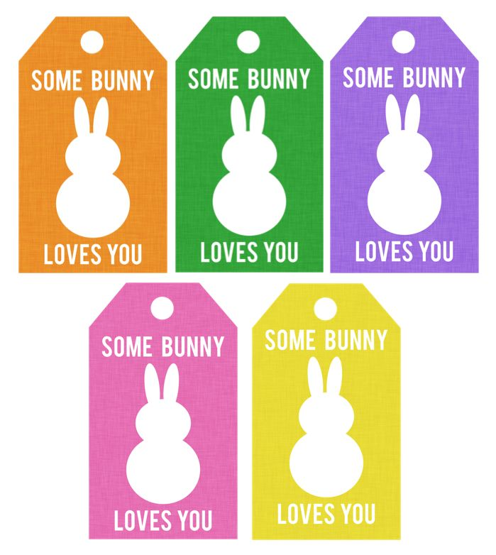 FREE-SOME BUNNY LOVES YOU TAGS...Add a dab of hot glue and a teensy tiny pom pom and you've got some adorable cuteness going on!