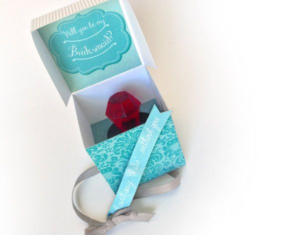 LVOE LVOE LVOE THIS!!!!    Will You Be My Bridesmaid...Ring Pop Box  by SimplyEverydayMe