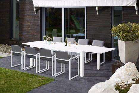 GARDENART SPISESTOL HVIT/GRÅ (Produktdetaljer) [Fine Design AS]