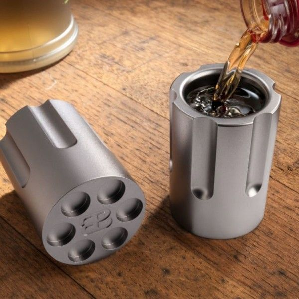 Personalized Six Shooter Shot Glasses (Set of 2)