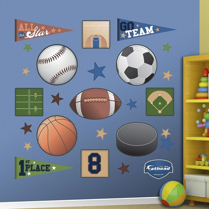 Fathead Sports Wall Decals, Multicolor