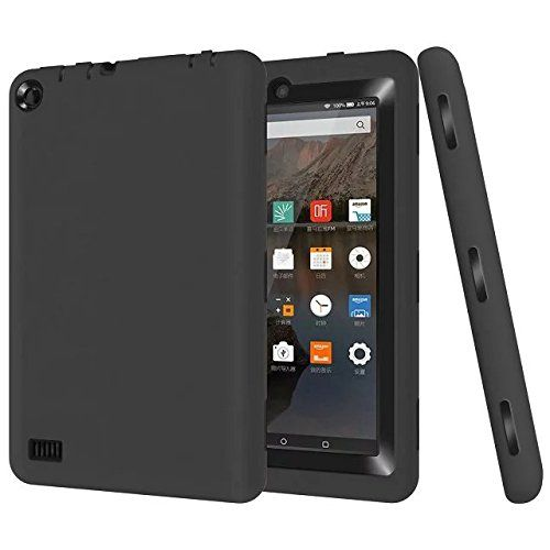 Fire 7 Case,Lookly [Robot Series] Double Layer Heavy Duty Rugged Shockproof Armor Defender Protective Case Cover for Amazon Kindle Fire 7 Inch Tablet (5th Generation - 2015 release) (Black Black) -- See this great product.