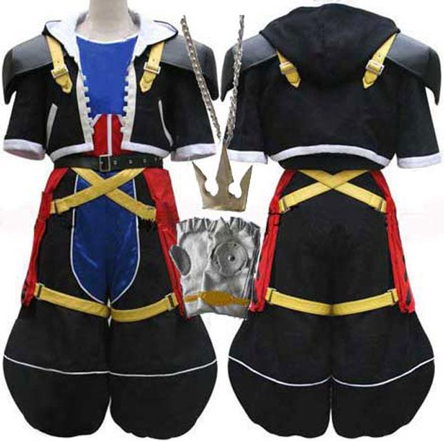 Oasis Costume Kingdom hearts sora cosplay costume sora outfit halloween costume. http://www.oscostume.com/kingdom-hearts-sora-cosplay-costume-sora-outfit-halloween-costume/